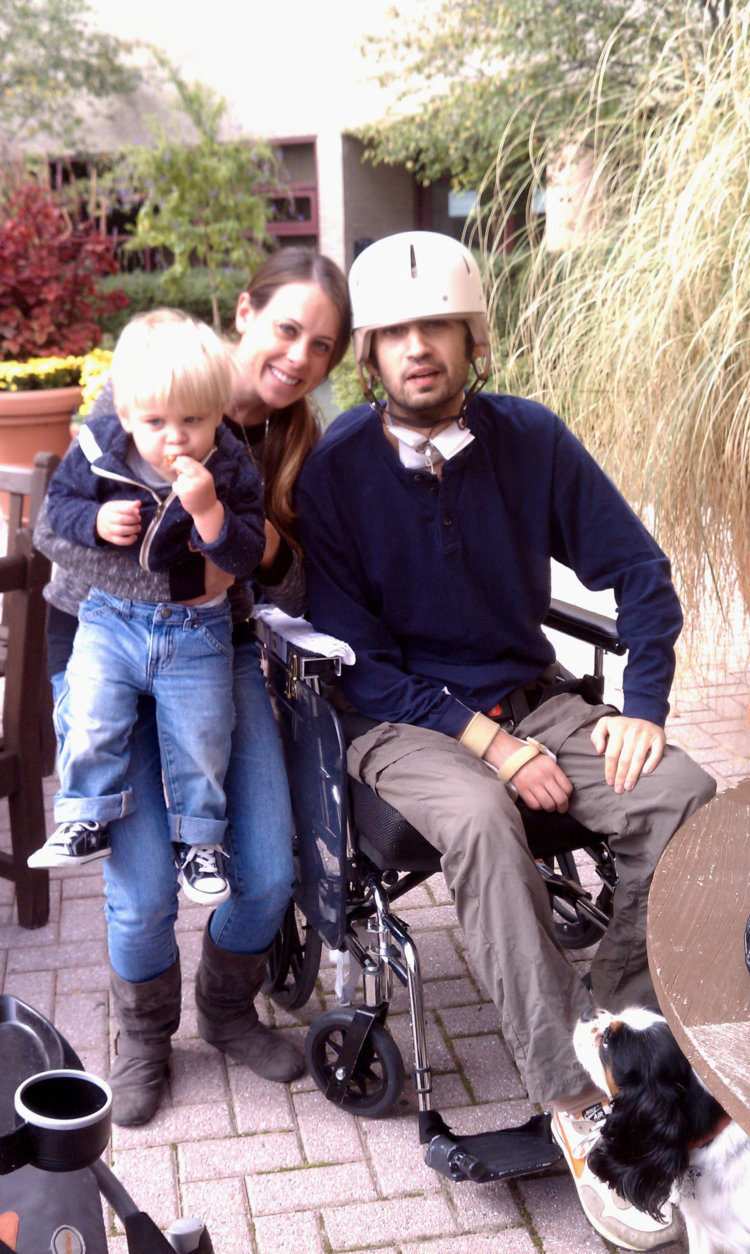 Abby and T.C. Maslin are pictured here with their son. T.C. was attacked more than six years ago coming home from a Washington Nationals game. (Courtesy: Maslin Family)