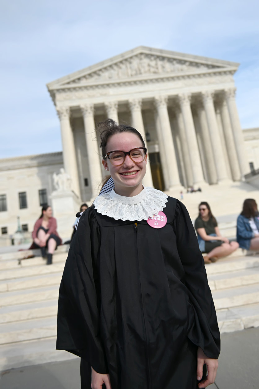 A costume inspired by Justice Ginsburg worn in honor of the Supreme Court Justice's 86th birthday. (Courtesy Shannon Finney)