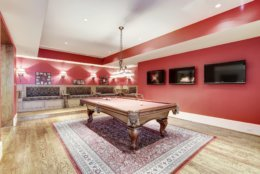 The billiards room. (Courtesy Washington Fine Properties)