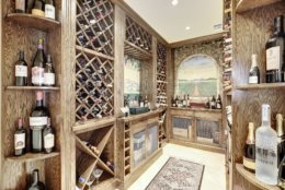 The wine cellar. (Courtesy Washington Fine Properties)