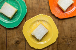 This August 2016 photo shows lemon bars in New York. This dish is from a recipe by Katie Workman. (Sarah E. Crowder via AP)