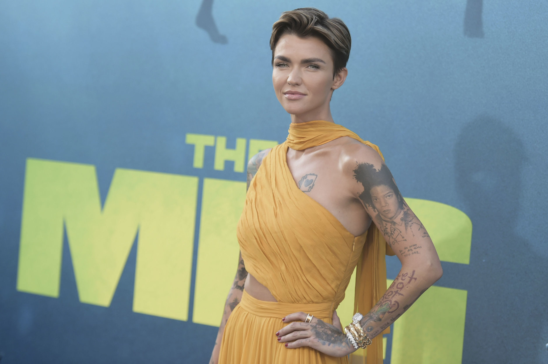"""Ruby Rose attends the LA Premiere of """"The Meg"""" at TCL Chinese Theatre on Monday, Aug. 6, 2018, in Los Angeles. (Photo by Richard Shotwell/Invision/AP)"""
