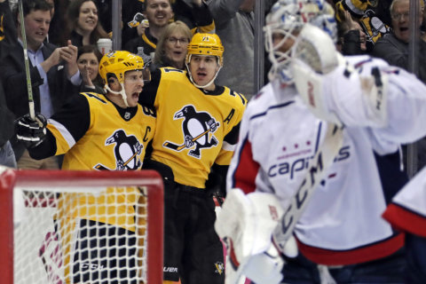 Caps' 7-game win streak ends with 5-3 loss to Penguins