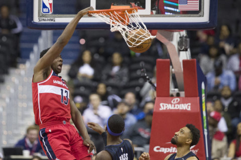 Wizards hang on, take down resilient Magic