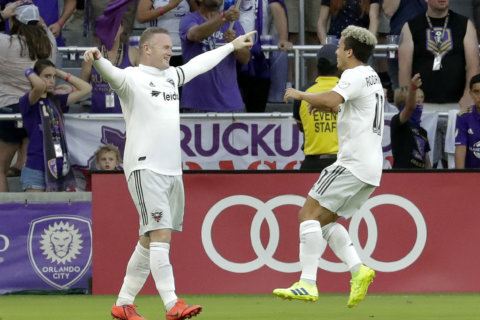 Rooney, DC United beat Orlando City 2-1, snap road skid