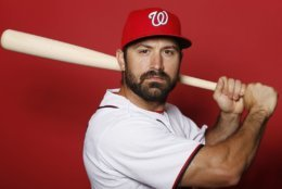 WEST PALM BEACH, FLORIDA - FEBRUARY 22:  Adam Eaton #2 of the Washington Nationals poses for a portrait on Photo Day at FITTEAM Ballpark of The Palm Beaches during on February 22, 2019 in West Palm Beach, Florida. (Photo by Michael Reaves/Getty Images)