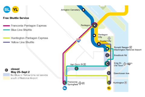 Not all of Alexandria's DASH rides will be free during summer Metro shutdown