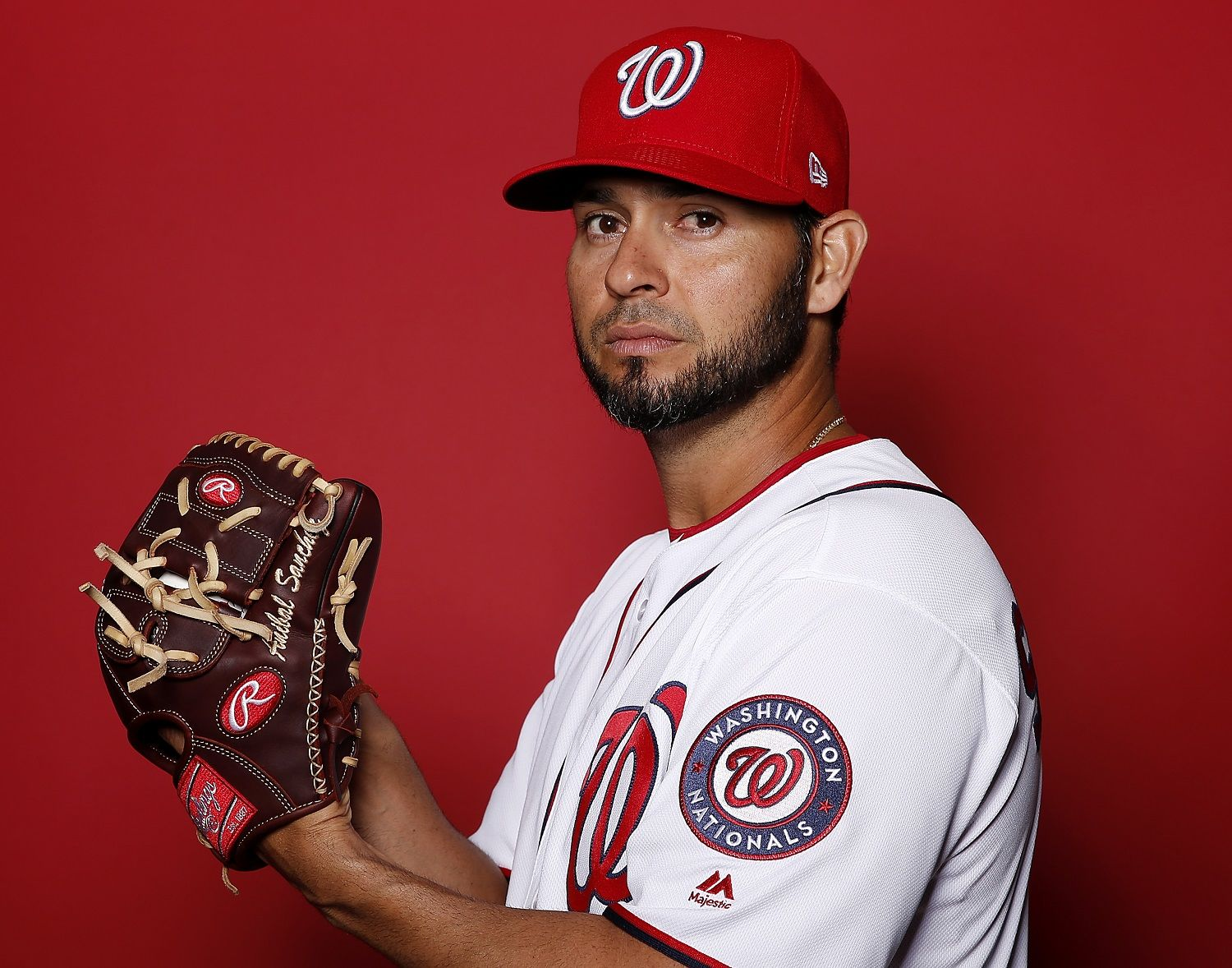 WEST PALM BEACH, FLORIDA - FEBRUARY 22:  Anibal Sanchez #19 of the Washington Nationals poses for a portrait on Photo Day at FITTEAM Ballpark of The Palm Beaches during on February 22, 2019 in West Palm Beach, Florida. (Photo by Michael Reaves/Getty Images)