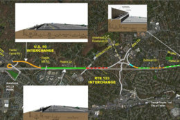 The layouts and path of parts of the proposed trail. (Courtesy VDOT/FAM)