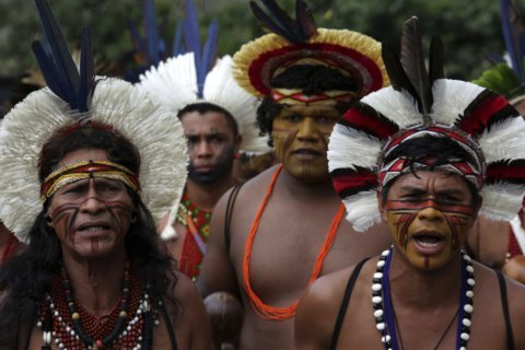 Indigenous groups in Brazil protest health care changes