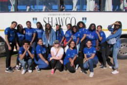 Ross with her volunteer group. (Courtesy Institute for International Education of Students)
