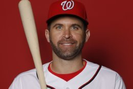 WEST PALM BEACH, FLORIDA - FEBRUARY 22:  Brian Dozier #9 of the Washington Nationals poses for a portrait on Photo Day at FITTEAM Ballpark of The Palm Beaches during on February 22, 2019 in West Palm Beach, Florida. (Photo by Michael Reaves/Getty Images)