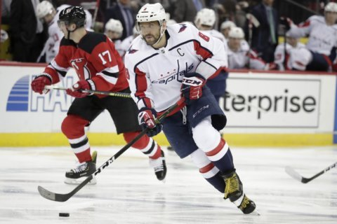 Alex Ovechkin stands alone with 8th-career Rocket Richard Trophy