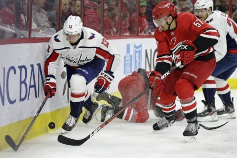 Caps clinch playoff berth with win over Hurricanes