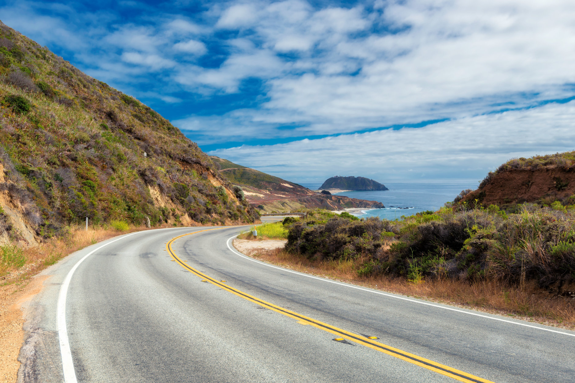 Pacific Coast Highway (Highway 1) at southern end of Big Sur, California.