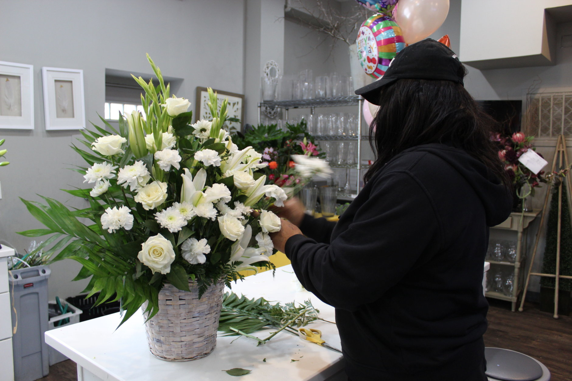 Lee's Flower and Card Shop is located on the corner of U street and 11st Street Northwest. The shop has been open  for nearly 75 years. (WTOP/Hallie Mellendorf)