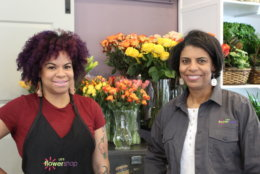 Sisters Stacie Banks and Kristi Lee began purchasing Lee's Flower and Card from their father in 2012. Today, they run the shop together. (WTOP/Hallie Mellendorf)