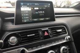 8 inch touchscreen in the 2019 Genesis G70. (WTOP/Mike Parris)