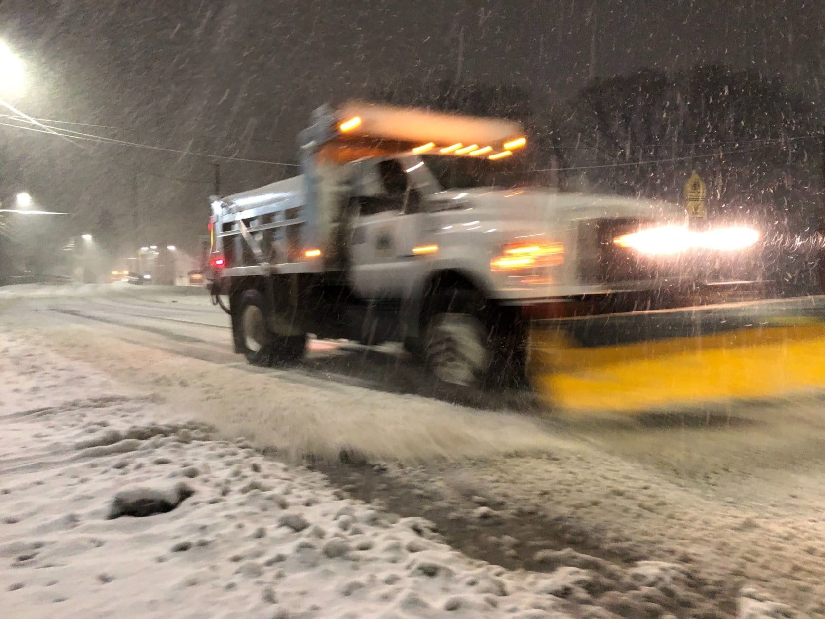 snow plow in Frederick County