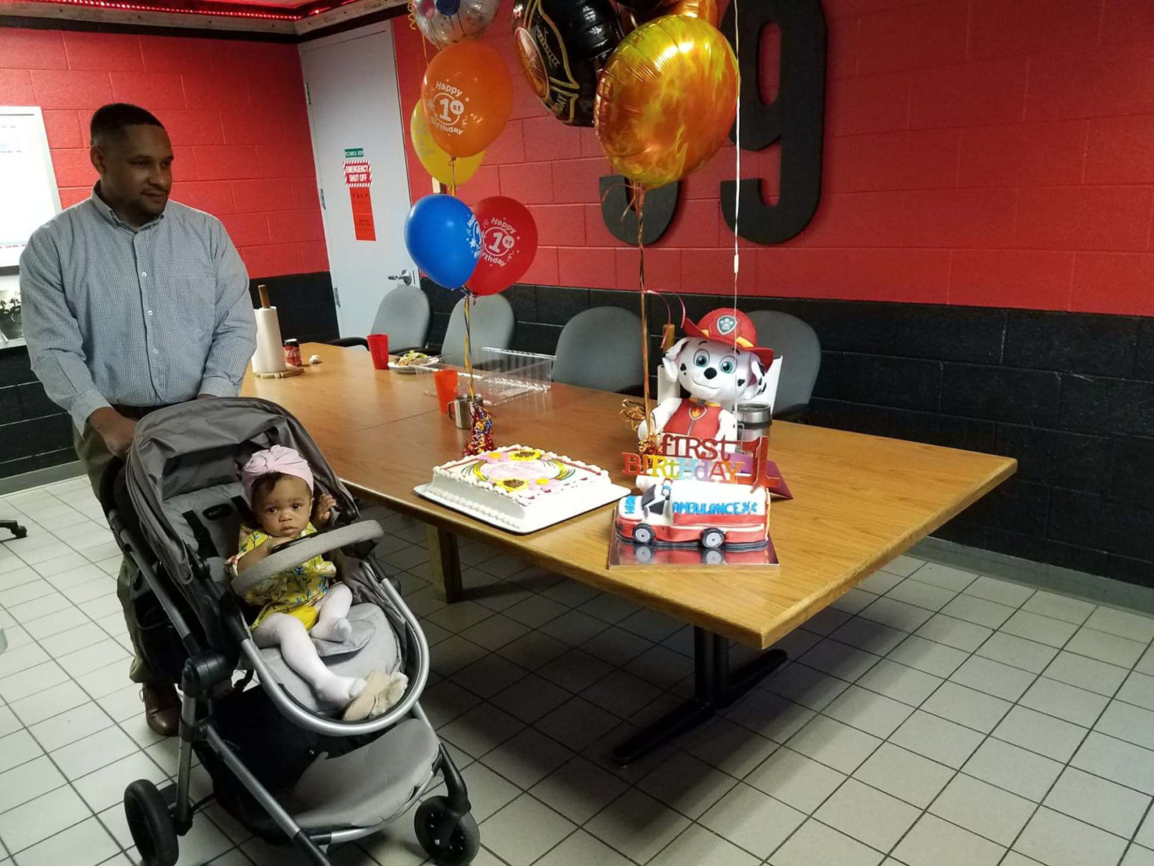 Lauryn arrives at her birthday celebration. (Courtesy Fairfax County Fire and Rescue)