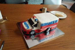 Ambulance cake! (Courtesy Fairfax County Fire and Rescue)