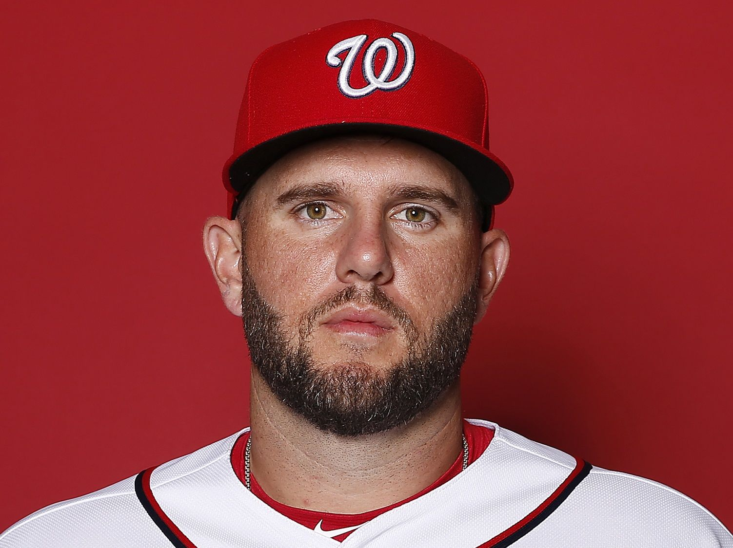 WEST PALM BEACH, FLORIDA - FEBRUARY 22:  Matt Adams #15 of the Washington Nationals poses for a portrait on Photo Day at FITTEAM Ballpark of The Palm Beaches during on February 22, 2019 in West Palm Beach, Florida. (Photo by Michael Reaves/Getty Images)