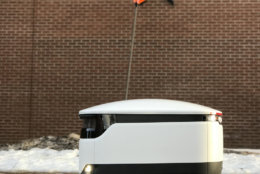 Gaithersburg-based Sodexo USA and Starship Technologies plan to continue adding campus locations to their food delivery robot partnership. (Courtesy Starship Technologies)