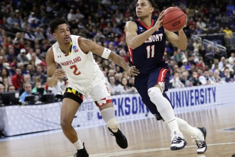 Big defensive stop allows Maryland to escape Belmont, 79-77