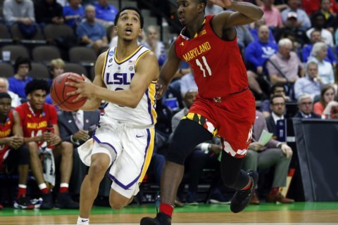 Maryland falls to LSU, 69-67 on a last second layup