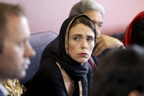 New Zealand's stoic leader vows never to say shooter's name