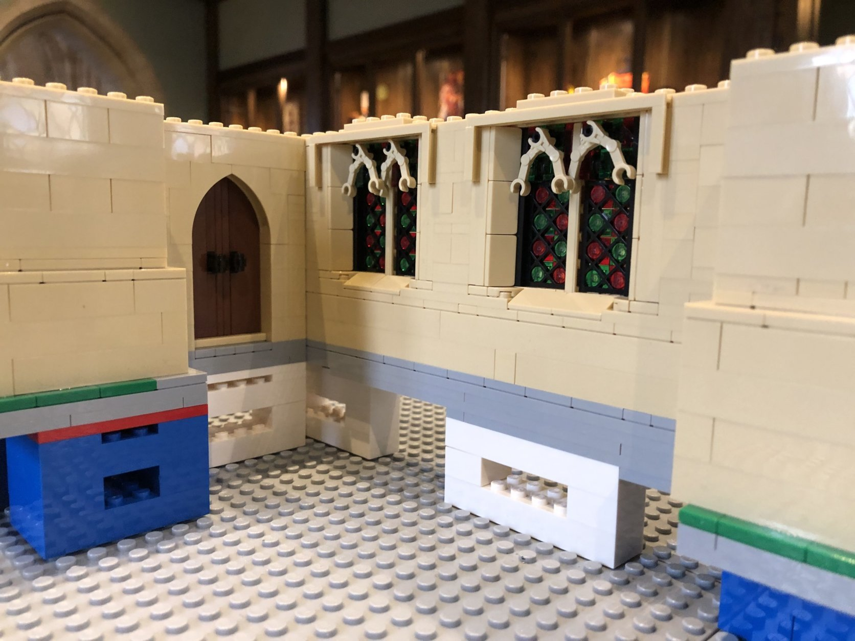 The idea for the LEGO cathedral came from a similar project that took place at the Durham Cathedral a couple years ago. (WTOP/Mike Murillo)