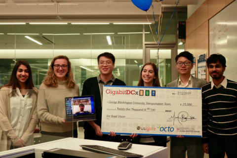 George Washington U. team wins DC funding for traffic app