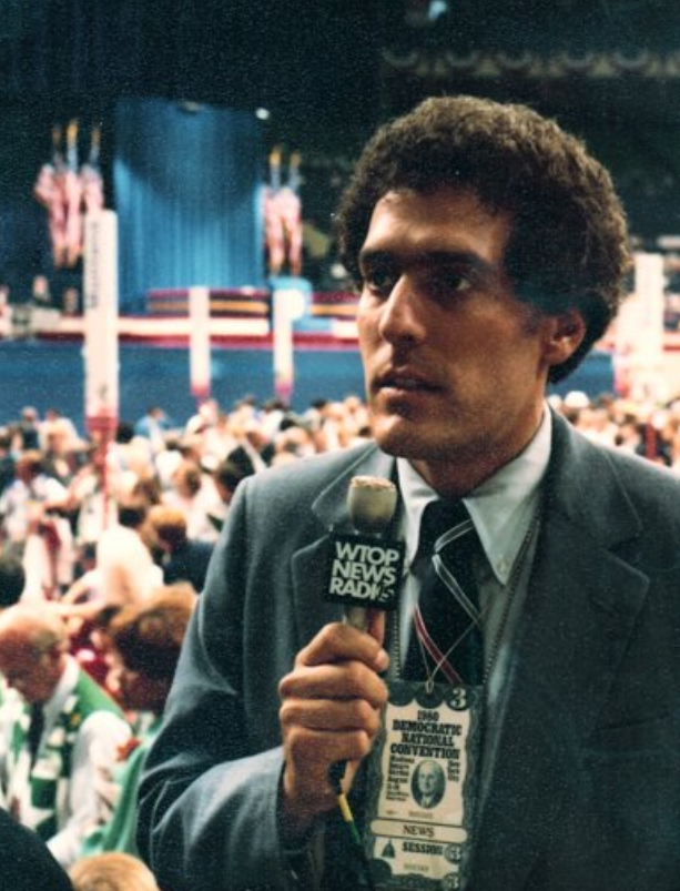 Ralph Begleiter, who went on to work at CNN, covered the Democratic National Convention for WTOP in 1980. (Courtesy Ralph Begleiter)
