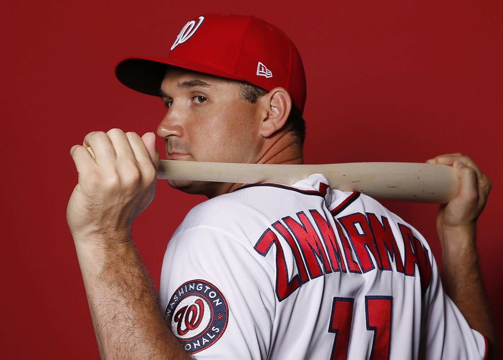 WEST PALM BEACH, FLORIDA - FEBRUARY 22:  Ryan Zimmerman #11 of the Washington Nationals poses for a portrait on Photo Day at FITTEAM Ballpark of The Palm Beaches during on February 22, 2019 in West Palm Beach, Florida. (Photo by Michael Reaves/Getty Images)