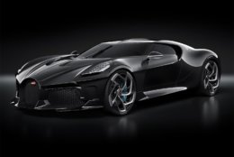 La Voiture Noire has the same 16-cylinder engine as the $3 million Chiron on which it is based. (Bugatti/Twitter)