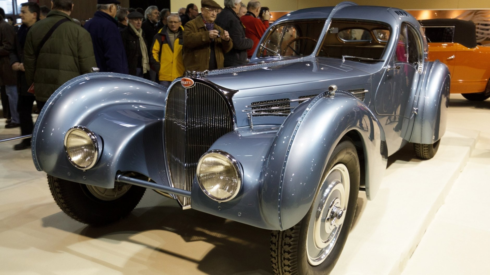 The latest Bugatti is designed to recall the Type 57 SC Atlantic of the 1930s. (Richard Bord/Getty Images)