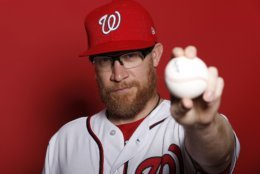 WEST PALM BEACH, FLORIDA - FEBRUARY 22:  Sean Doolittle #62 of the Washington Nationals poses for a portrait on Photo Day at FITTEAM Ballpark of The Palm Beaches during on February 22, 2019 in West Palm Beach, Florida. (Photo by Michael Reaves/Getty Images)