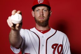 WEST PALM BEACH, FLORIDA - FEBRUARY 22:  Stephen Strasburg #37 of the Washington Nationals poses for a portrait on Photo Day at FITTEAM Ballpark of The Palm Beaches during on February 22, 2019 in West Palm Beach, Florida. (Photo by Michael Reaves/Getty Images)