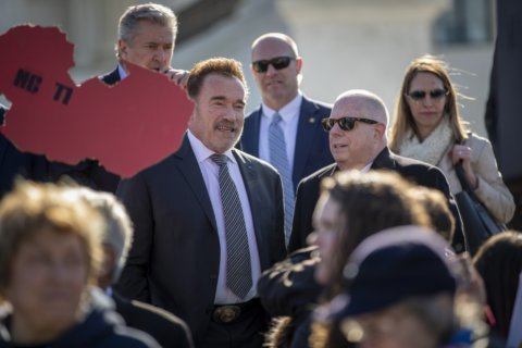'Terminator' and Md.'s Hogan visit Supreme Court as redistricting case is heard