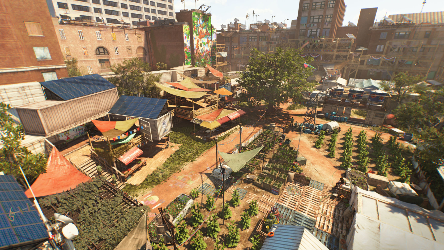 One of the settlements players will help rebuild in Division 2. (Courtesy Ubisoft/Massive)