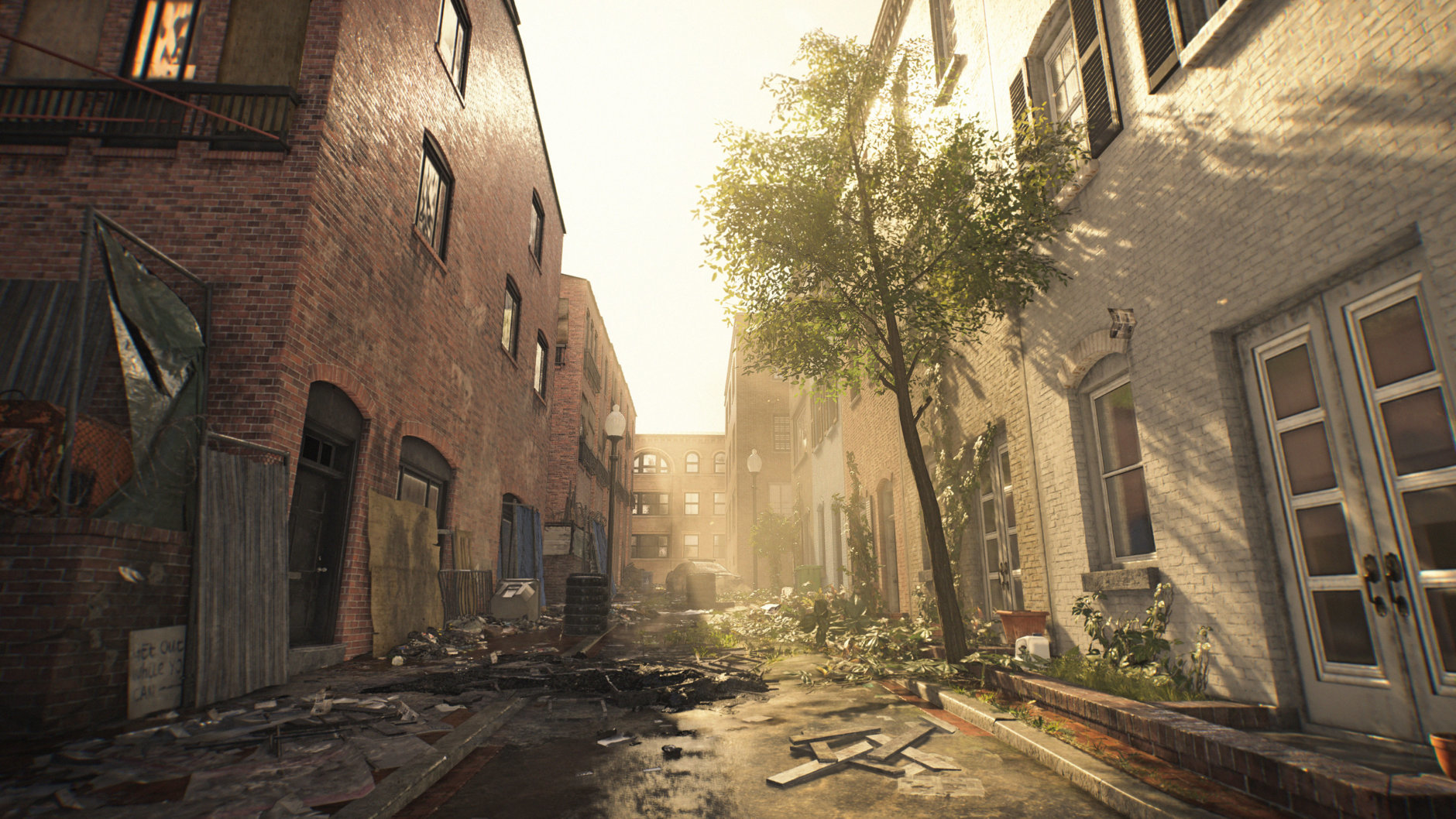 Overgrowth and trash litter the streets of Georgetown in Division 2. (Courtesy Ubisoft/Massive)