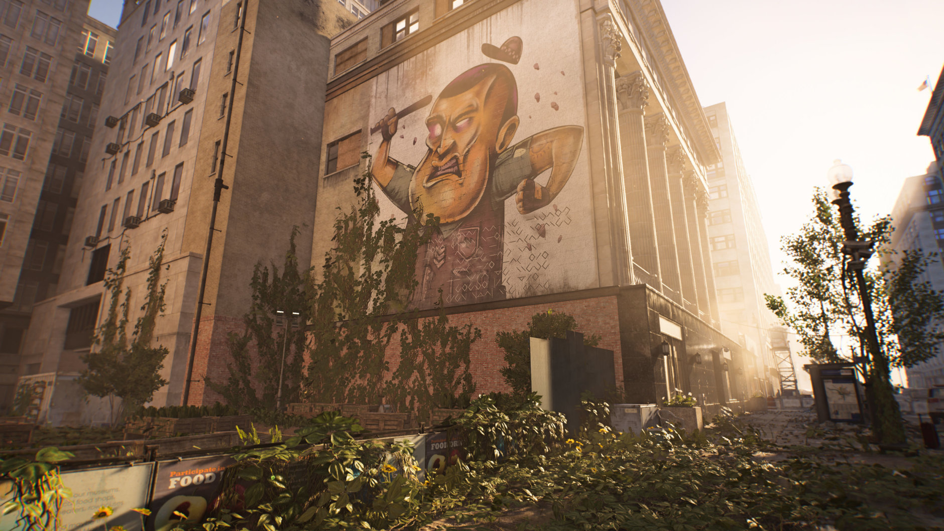 Graffiti is all over the streets of D.C. in Division 2. (Courtesy Ubisoft/Massive)