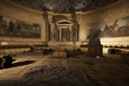 Inside the National Archives is a scene of destruction in The Division 2. (Courtesy Ubisoft/Massive)