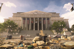 The National Archives are one of the many iconic scenes of destruction in The Division 2. (Courtesy Ubisoft/Massive)