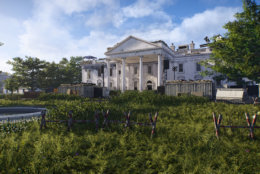 The lawn of the White House is wild and overgrown in Tom Clancy's The Division 2. (Courtesy Ubisoft/Massive)