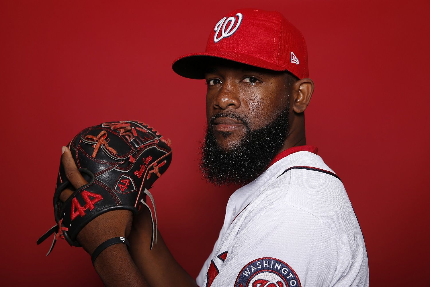 WEST PALM BEACH, FLORIDA - FEBRUARY 22:  Wander Suero #51 of the Washington Nationals poses for a portrait on Photo Day at FITTEAM Ballpark of The Palm Beaches during on February 22, 2019 in West Palm Beach, Florida. (Photo by Michael Reaves/Getty Images)