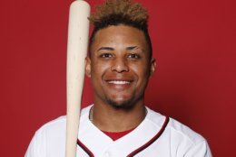 WEST PALM BEACH, FLORIDA - FEBRUARY 22:  Wilmer Difo #1 of the Washington Nationals poses for a portrait on Photo Day at FITTEAM Ballpark of The Palm Beaches during on February 22, 2019 in West Palm Beach, Florida. (Photo by Michael Reaves/Getty Images)
