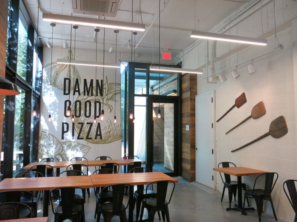 The interior of the upcoming Wizeguy Pizza at 200 M St., SE. (Courtesy Capitol Riverfront BID)