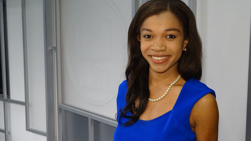 Breana Ross, who is wrapping up her final semester at University of Miami, has been awarded the Institute for the International Education of Students' annual Global Citizen Award. (Courtesy Institute for International Education of Students)