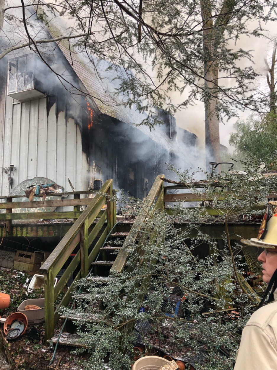 The March 9 fire occurred in the 1400 block of Brookhaven Drive in McLean, Virginia. (Courtesy Fairfax County Fire and Rescue)